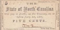 USA 5 Cents - State of North Carolina - 1866 - TTB