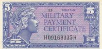 USA 5 Cents Military Cerificate - Serial 611 - 1964