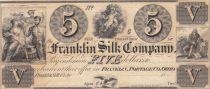 USA 5 Dollars - Franklin Silk Company - 18xx (near 1850) - XF