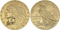 USA 5 Dollars - Tête Indien - Aigle 1910 Or