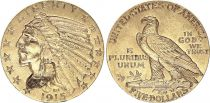 USA 5 Dollars - Indian head - Eagle - 1915 Gold