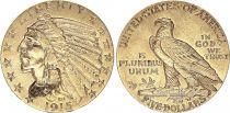USA 5 Dollars - Tête Indien - Aigle 1915 Or