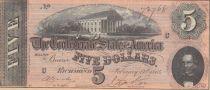 USA 5 Dollars C.G. Memminger - Confederate States - 1864 - AU - P.67