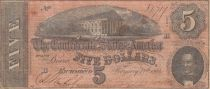 USA 5 Dollars C.G. Memminger - Confederate States - 1864 - Fine to VF - P.67