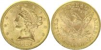 USA 5 Dollars Liberty - Eagle 1887 S San Francisco Gold