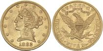 USA 5 Dollars Liberty - Eagle Coronet Head - 1882 Gold