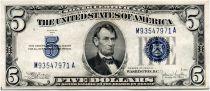 USA 5 Dollars Lincoln - Blue Seal  - 1934 - VF
