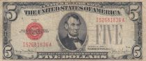 USA 5 Dollars Lincoln - Read Seal  - 1934 - F to VF - P.379