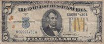 USA 5 Dollars Lincoln - Yellow seal 1934 A - TB - P.414 AY