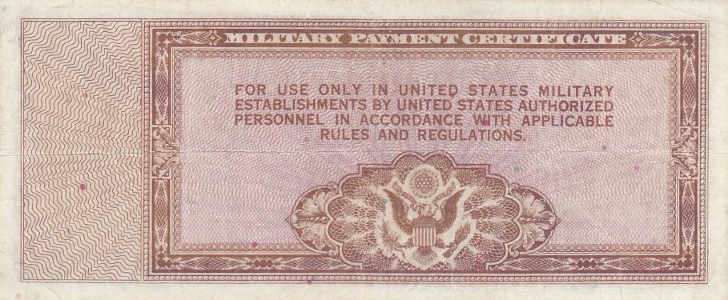 USA 5 Dollars Military Cerificate - Série 472 - 1948