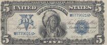 USA 5 Dollars Tatoka-Inyanka - Sioux - Silver certificates - 1899 - P.340