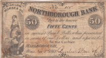 USA 50 Cents - Northborough Bank - 1862 - Fine