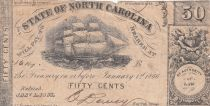 USA 50 Cents - State of North Caolina - 1866 - TB