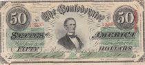 USA 50 Dollars Jefferson Davis - Confédérate States - 1863 - TTB + - P.62
