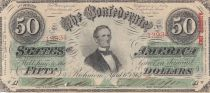 USA 50 Dollars Jefferson Davis - Confederate States - 1863 - VF - P.62