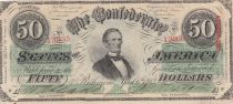 USA 50 Dollars Jefferson Davis - Confederate States - 1863 - VF to XF - P.62