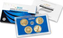 USA American Innovation 2020 $1 Coin Proof Set 4 x 1 Dollar
