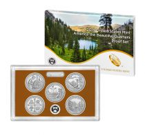 USA Beautiful Quarters Proof set 2019 - 5 coins