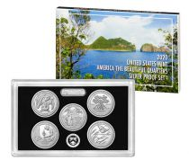 USA Beautiful Quarters Silver Proof set 2020 - 5 coins