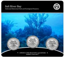 USA Folder 3 x 1/4 Dollar - Salt River Bay - 2020