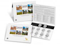 USA Lot 10 x $¼ 2019 Parcs Nationaux, 5x D (DENVER) + 5x P (PHILADELPHIE)