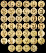 USA Lot 40 x 1 Dollar Présidents des Etats-Unis - 2007-2020