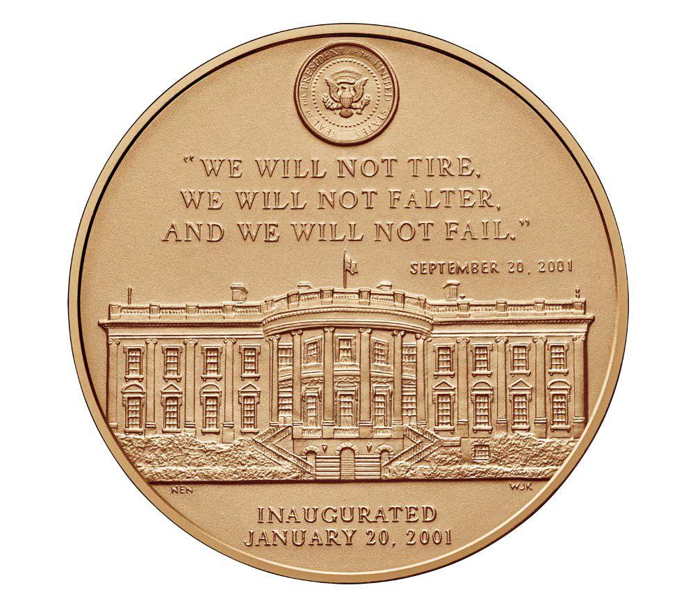 USA Médaille Bronze George W. Bush (1e Mandat) - Présidents américains - U.S. Mint