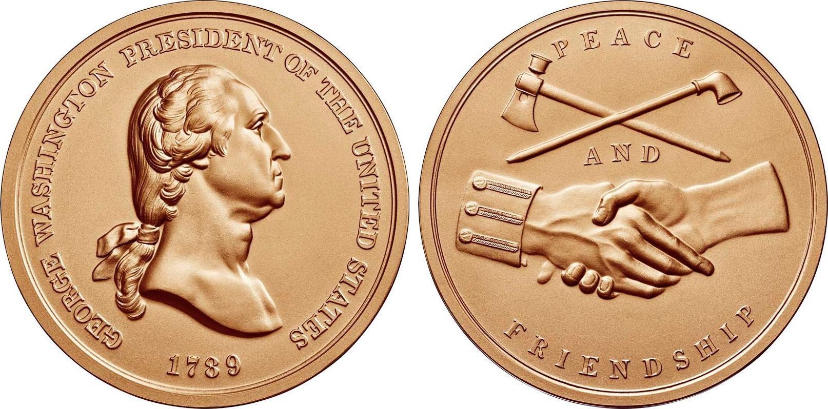 USA Médaille Bronze George Washington - Présidents américains - U.S. Mint