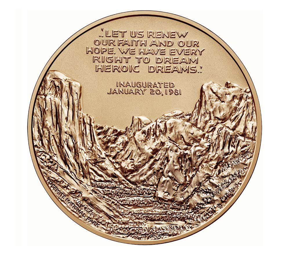 USA Médaille Bronze Ronald Reagan - Présidents américains - U.S. Mint