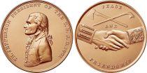 USA Médaille Bronze Thomas Jefferson - Présidents américains - U.S. Mint