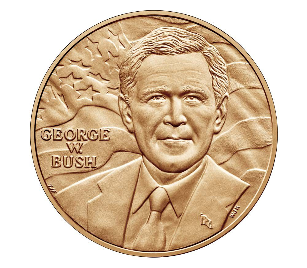 USA Presidential bronze medal - George W. Bush (1st Term) - U.S. Mint
