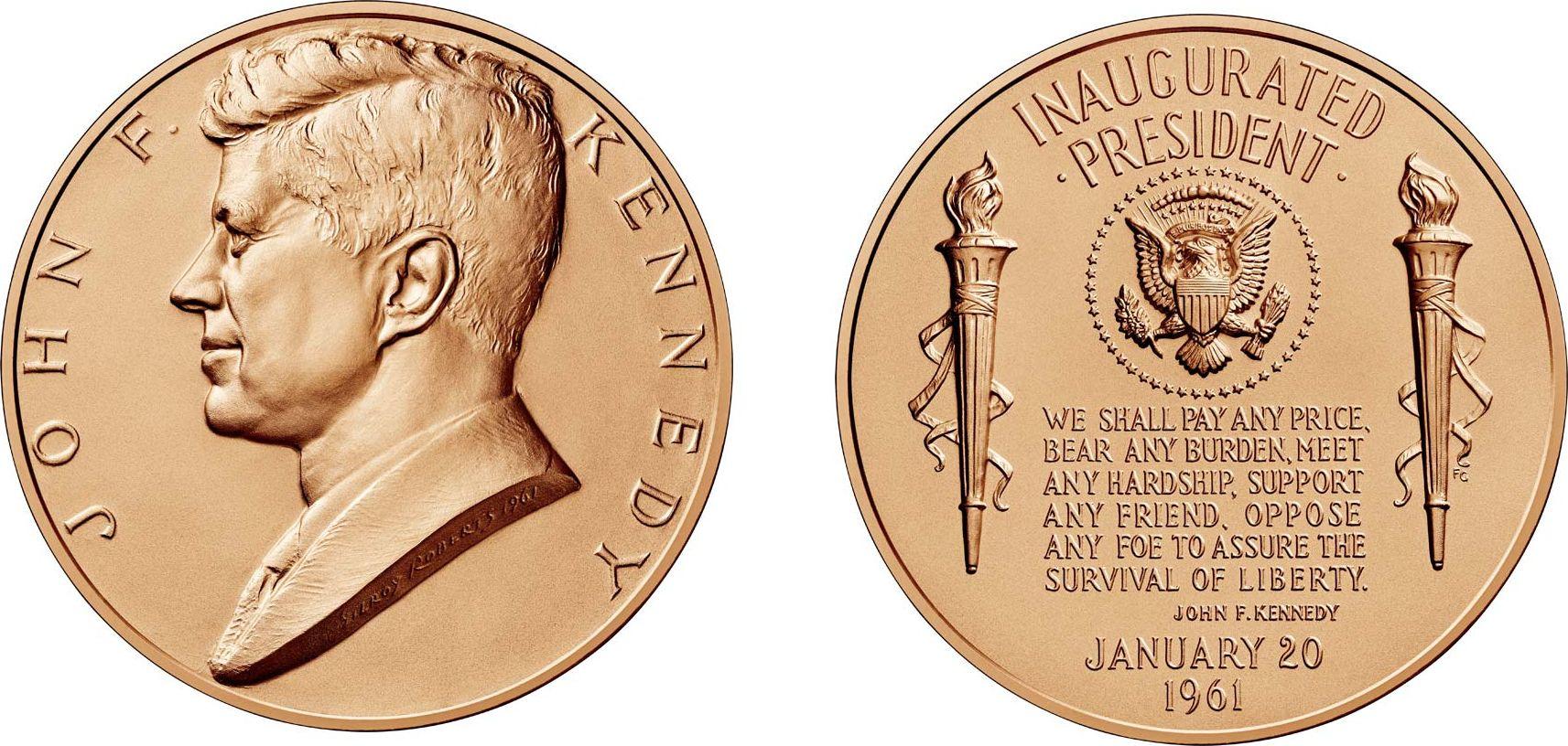 USA Presidential bronze medal - JF Kennedy  - U.S. Mint