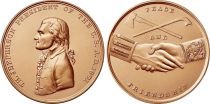 USA Presidential bronze medal - Thomas Jefferson - U.S. Mint