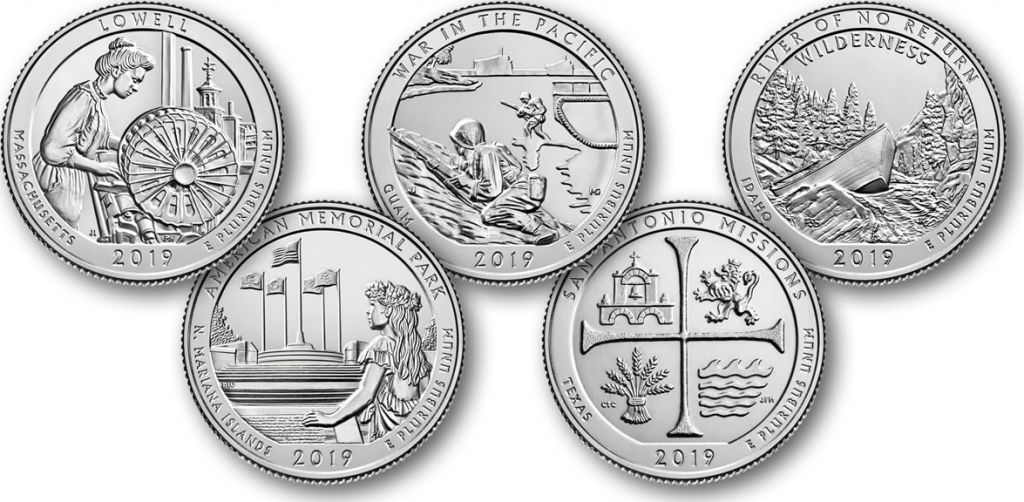 2017 All Five S America the Beautiful Quarters 5 Coins Uncirculated BU