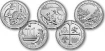 USA Serial of 5 quarters - America the Beautiful Quarters 2019