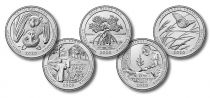 USA Serial of 5 quarters - America the Beautiful Quarters 2020