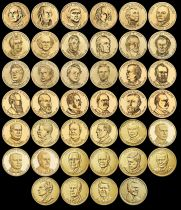 USA Set of 40 x 1 Dollar Présidents 2007 to 2020
