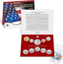 USA Uncirculated Coin Set BU Denver (D) 2019 - 10 coins
