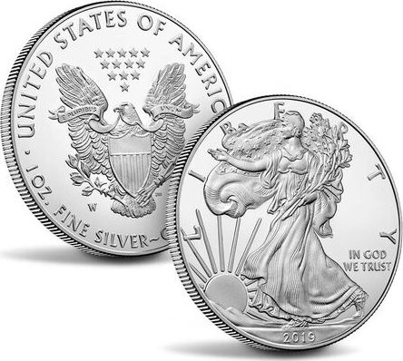 USA USA Eagle $1 Proof silver - 2019 - W WEST POINT