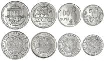 Usbekistan Set of 4 coins  - 50 to 500 Som - 2018