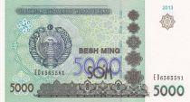 Uzbekistan 5000 Sum 2013 Coat of Arms - Palace