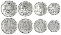 Uzbekistan Set of 4 coins  - 50 to 500 Som - 2018