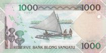Vanuatu 1000 Vatu  Melanesian local chief - 2007 to xxxx - P.10b - Prefix KK