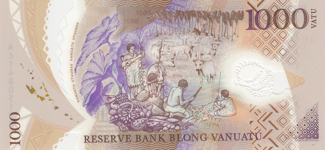 Vanuatu 1000 Vatu Chef Mélanésien - Récolte et Elevage - 2014 - Neuf - Polymer - P.13