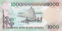 Vanuatu 1000 Vatu Chef Mélanésien, 2007 à nos jours - Neuf - P.10b - Préfixe KK