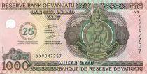 Vanuatu 1000 Vatu Melanesian chief - 25 Years of Independence - 2007