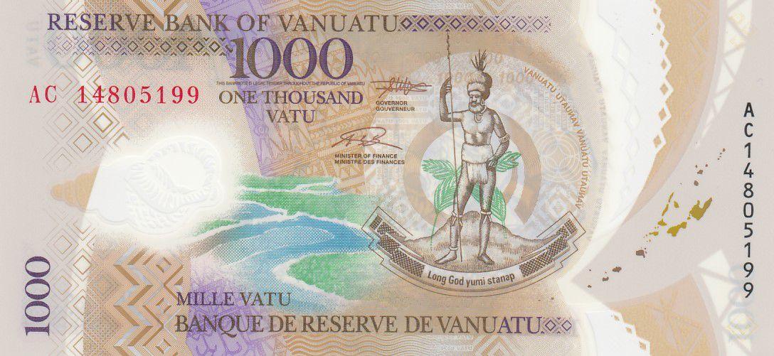 Vanuatu 1000 Vatu Melanesian Chief - Harvesting and Breeding - 2014 - UNC - Polymer - P.13