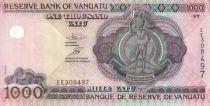 Vanuatu 1000 Vatu Melanesian chief - Outrigger sailboat