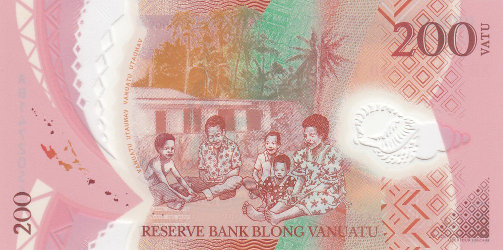 Vanuatu 200 Vatu Chef Mélanésien - Famille - 2014 - Polymer - Neuf