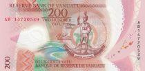 Vanuatu 200 Vatu Melanesian Chief - Family - 2014 - Polymer - UNC